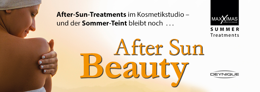 DEYNIQUE Cosmetics, After Sun Treatments im Kosmetikstudio